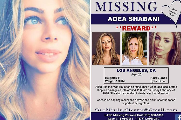Missing actress and model feared murdered by lover who 'killed himself' after leading cops on high-speed chase