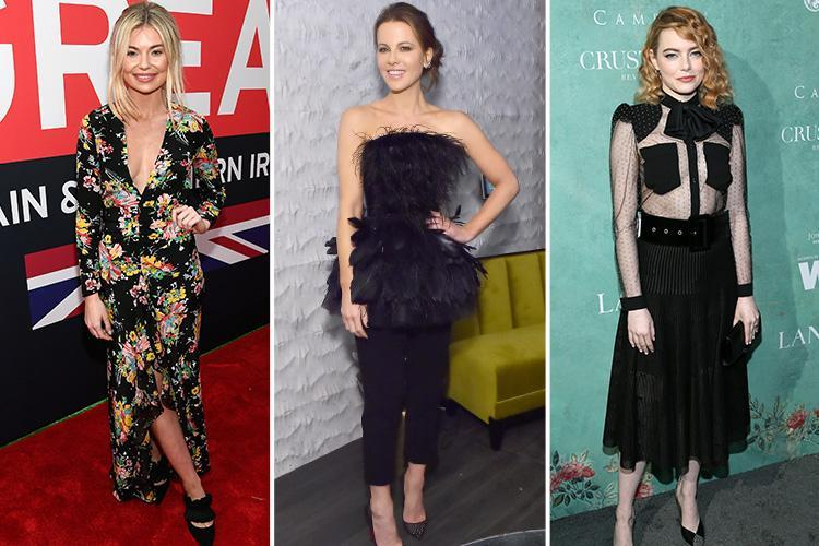 Georgia Toffolo, Emma Stone and Kate Beckinsale lead the glamour at pre-Oscar bashes in LA