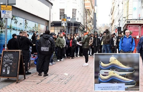 Nike fans camp outside UK stores for TWO nights to get £125 Air Max 1/97 Sean Wotherspoon trainers
