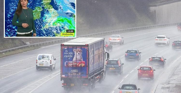UK weather – Easter washout to bring 40mph wind, inch of rain and risk of snow in south TOMORROW