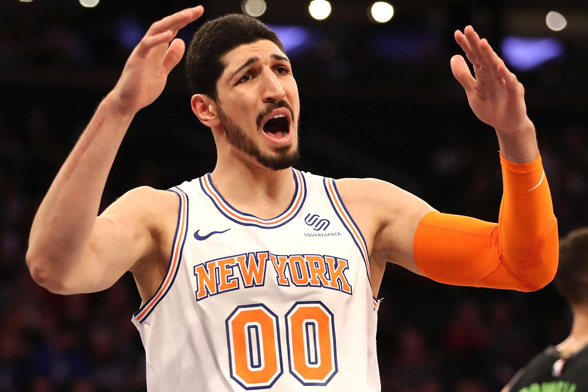 Enes Kanter not a happy camper because of two words