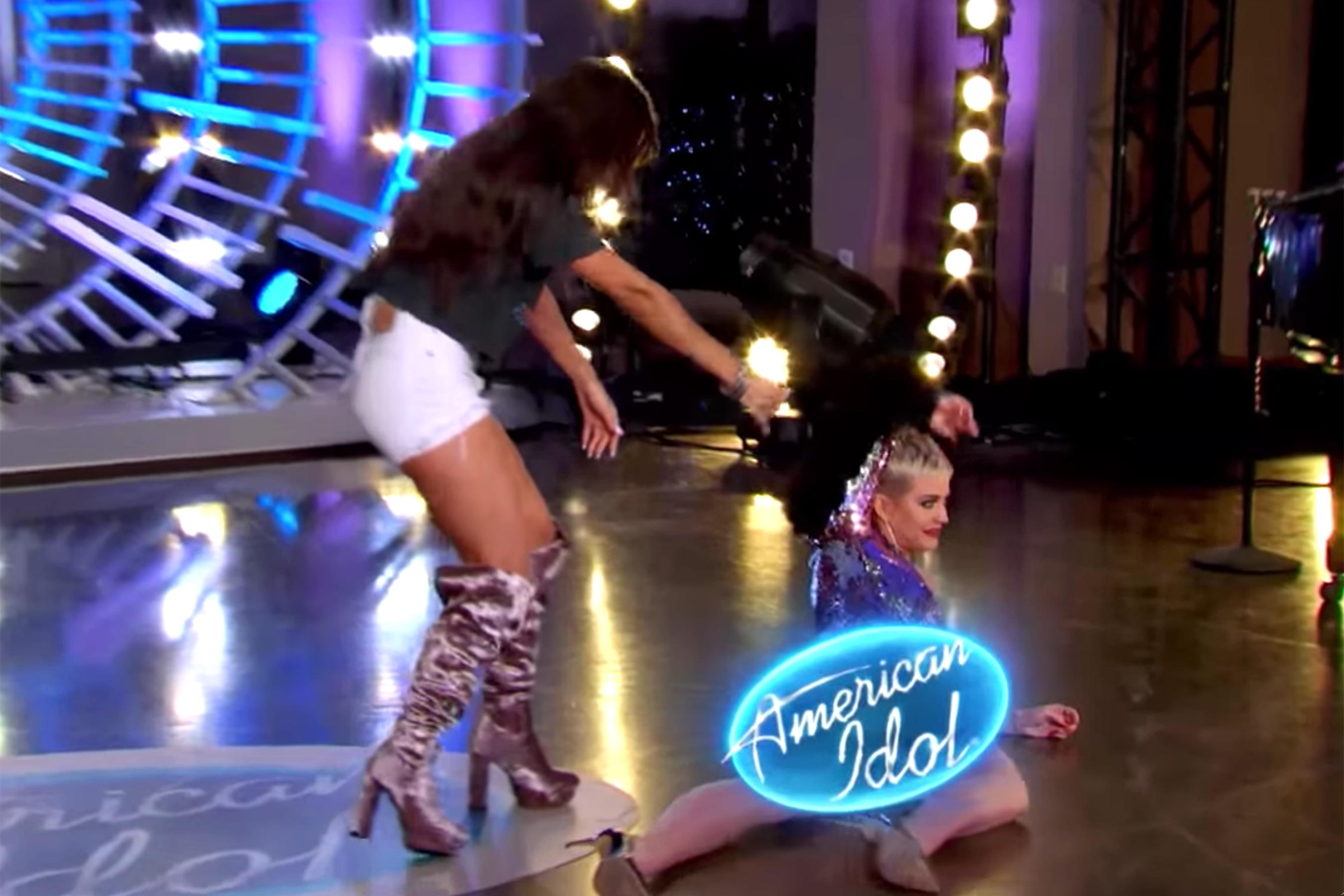 Katy Perry laughs off wardrobe malfunction on American Idol