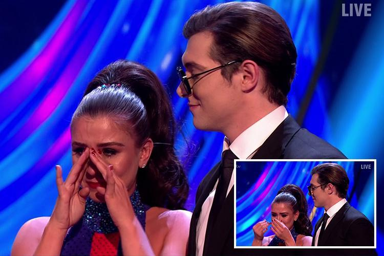 Emotional Brooke Vincent breaks down in tears during Dancing on Ice semi final