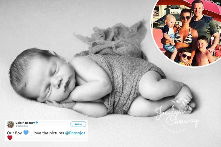 Coleen Rooney shares adorable picture of her three week old son Cass Mac