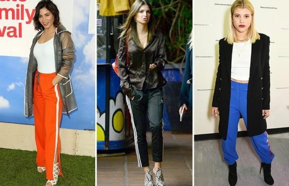 Joggers with heels is the latest star style craze… but would YOU wear the look?