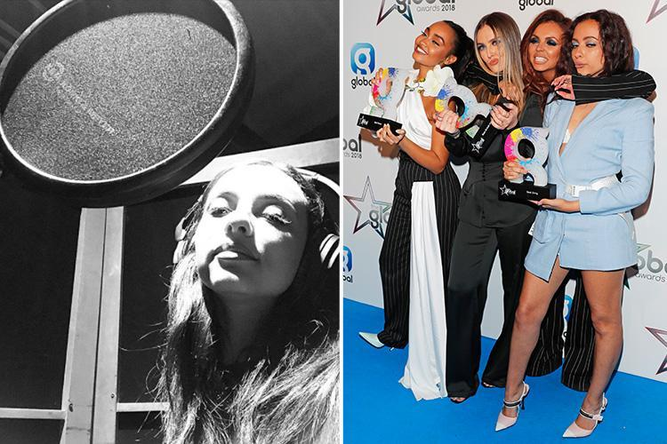 Jade Thirlwall confirms Little Mix have finished recording the first track on their fifth album as they smash chart records