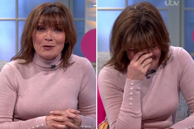 Lorraine Kelly returns to her show after sick day as Piers Morgan cheekily compliments her 'husky new voice'