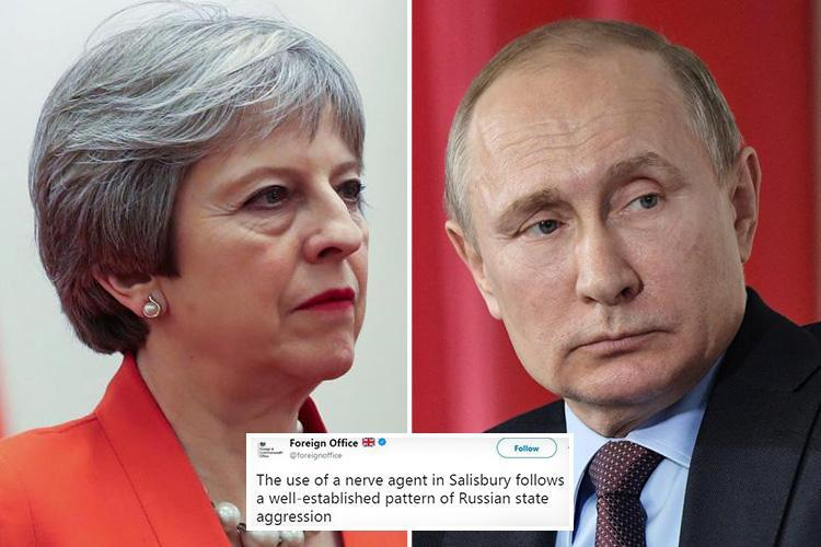 UK Foreign Office hits back at Russian Embassy on Twitter by posting video that reveals the Kremlin's campaign of aggression against the west