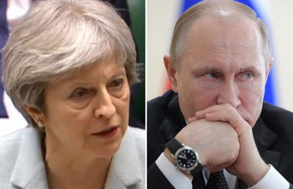 Theresa May warns Vladimir Putin that Britain is steeled to combat Russia's 'hybrid' warfare