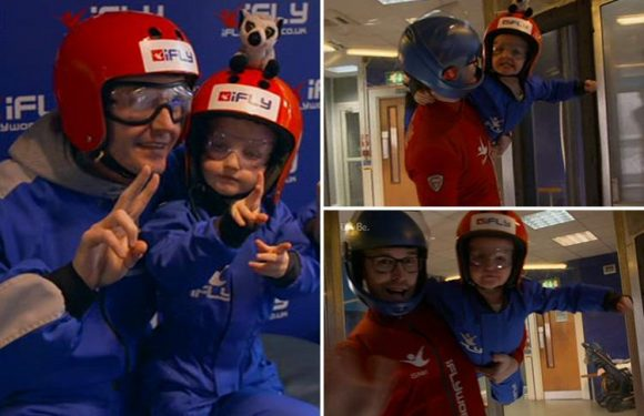 Billie Faiers' three-year-old daughter Nelly stuns Mummy Diaries viewers by SKYDIVING