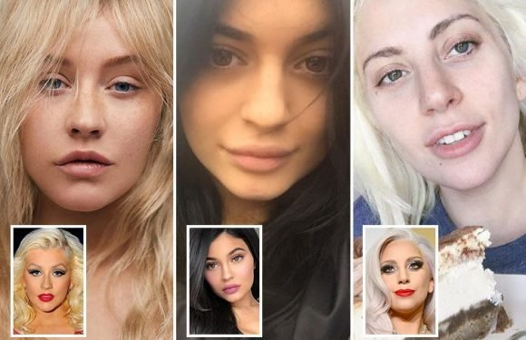 The celebs who look even better WITHOUT make-up, from Lady Gaga to Kylie Jenner and (of course) Christina Aguilera
