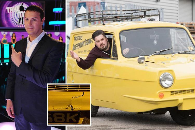 Paddy McGuinness crashes replica Only Fools and Horses three-wheel van in TV stunt causing £2,000 in damage
