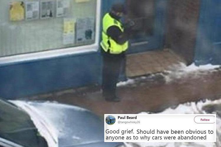 Motorists' fury as parking warden slaps £50 fines on cars stranded in snow