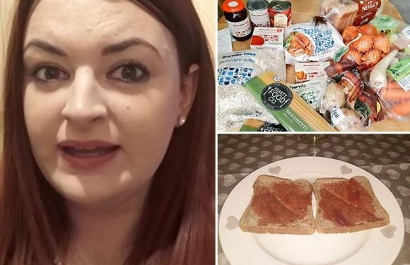 Thrifty woman reveals how she survived on less than £1-a-day of food for a whole week