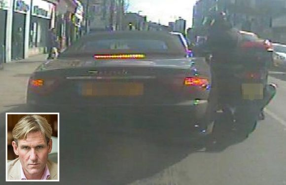 Terrifying moment moped thugs robbed ex-Crystal Palace boss Simon Jordan's £130k watch at gunpoint