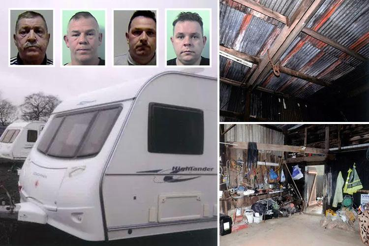Traveller slave gang led by 'Tank Commander' jailed after torturing naked victim in pigsty making him eat dog food and threatening to skin another with a razor