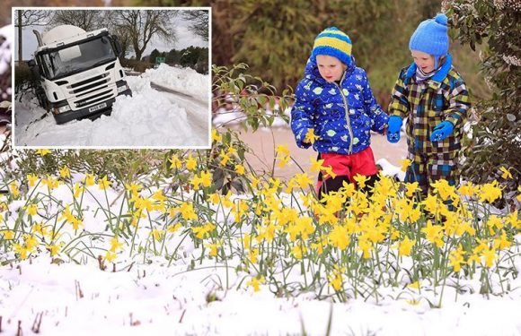 UK weather forecast warns of rain and plunging -4C temperatures as country prepares for cold snap bringing return of snow at Easter