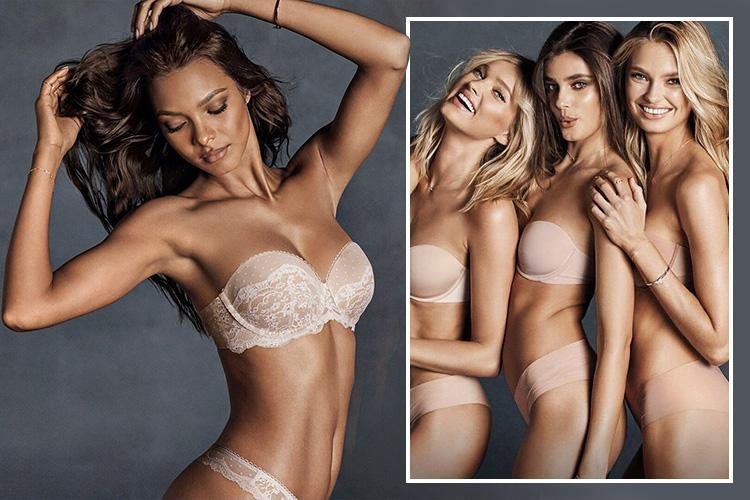 Victoria's Secret models prove nude strapless underwear can still be VERY sexy… with new campaign featuring Jasmine Tookes and Taylor Hill