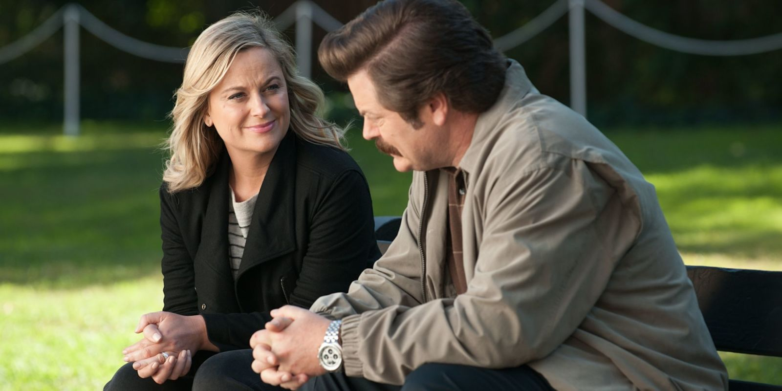 Parks and Recreation's Amy Poehler and Nick Offerman reunite for new TV show, and there's a trailer