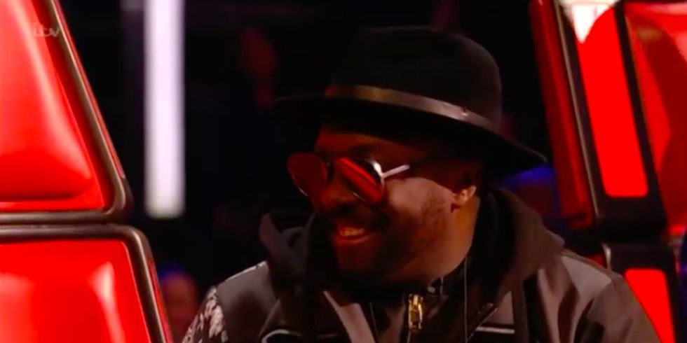 The Voice UK's will.i.am meets his doppelgänger in the audience