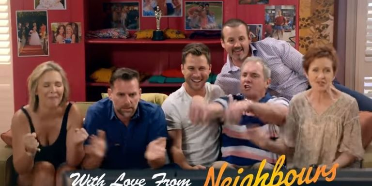Neighbours stars have a message for Margot Robbie ahead of the Oscars