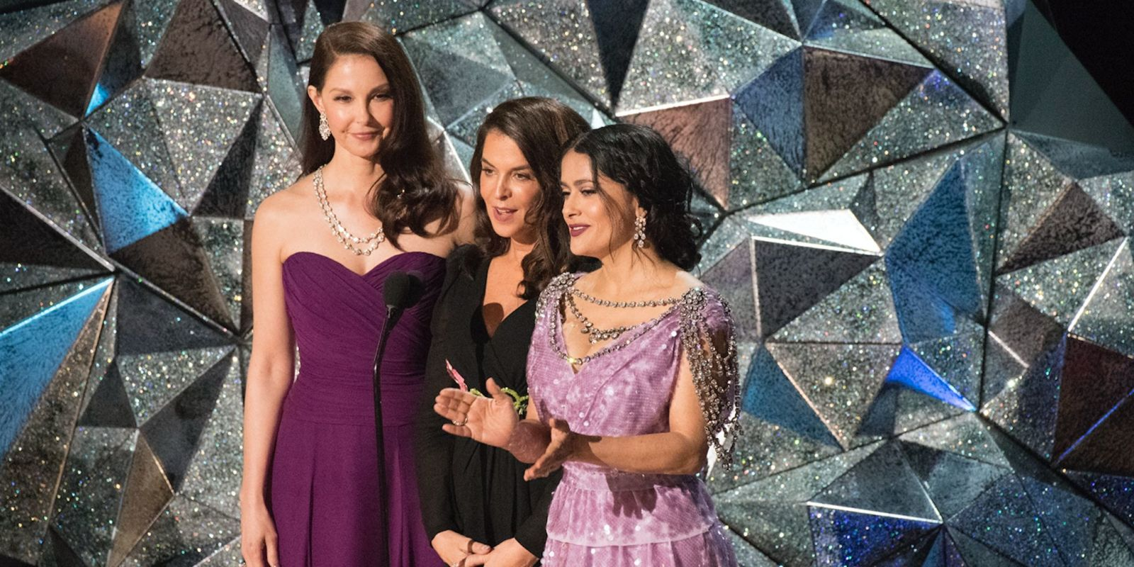 Oscars 2018: Ashley Judd and Salma Hayek tell Hollywood that Time's Up in empowering speech