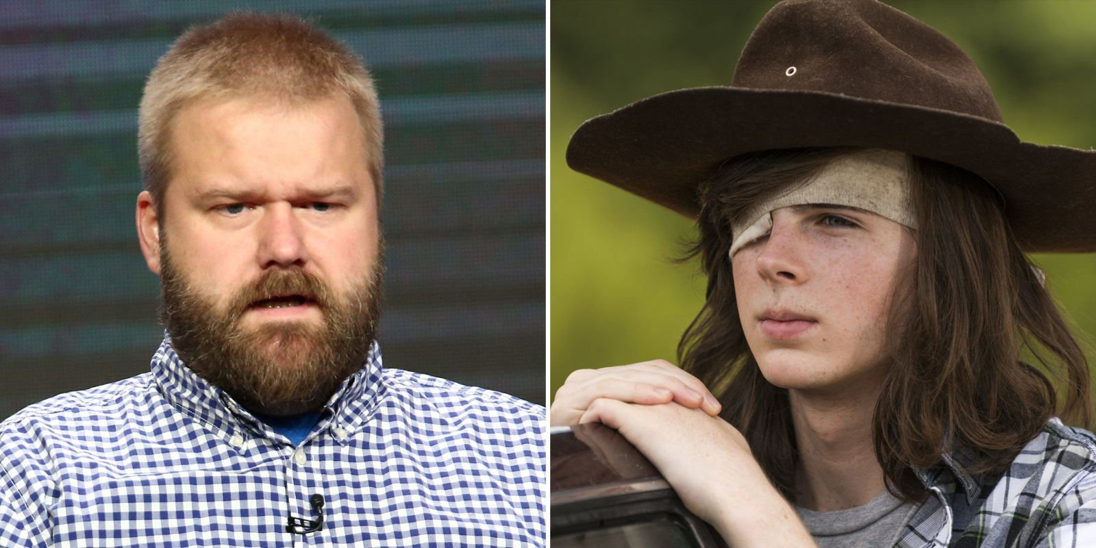 The Walking Dead creator doesn't care that Carl is dead