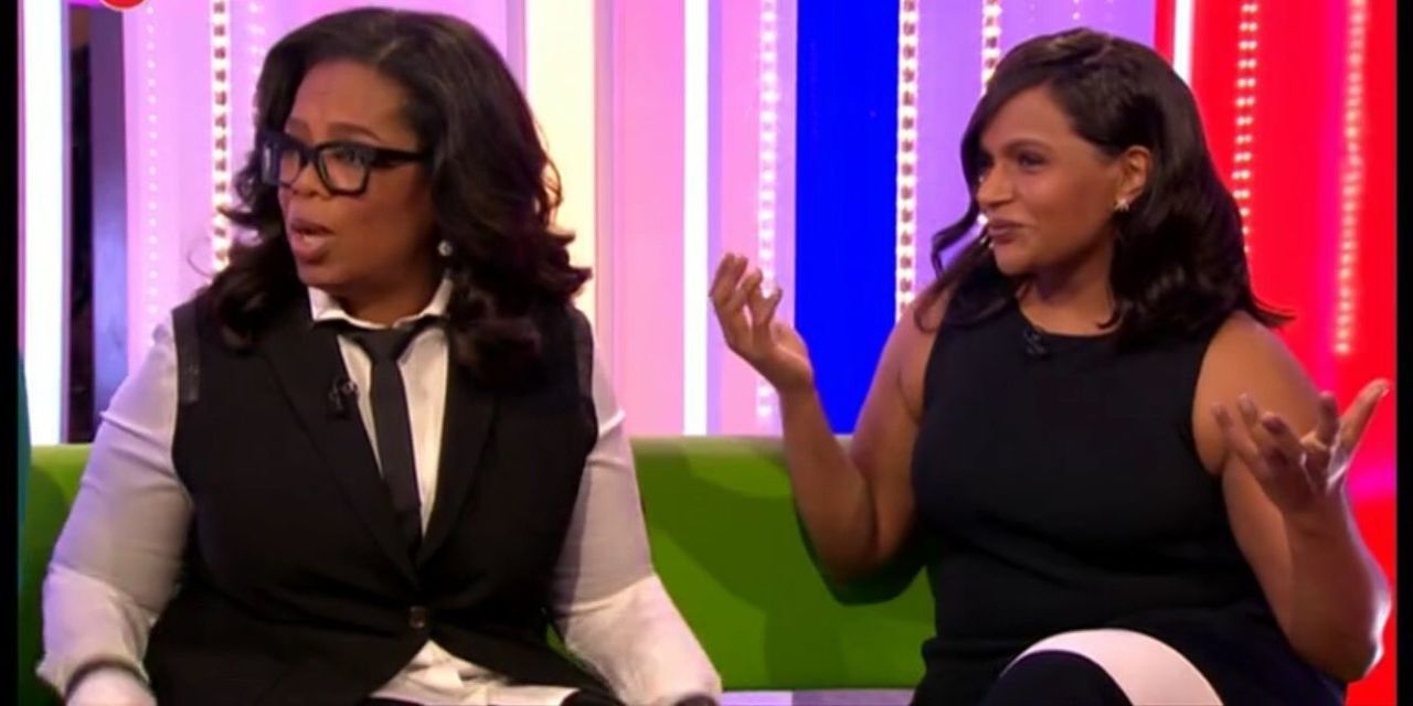 Mindy Kaling hilariously calls out Oprah Winfrey live on The One Show for outing her pregnancy