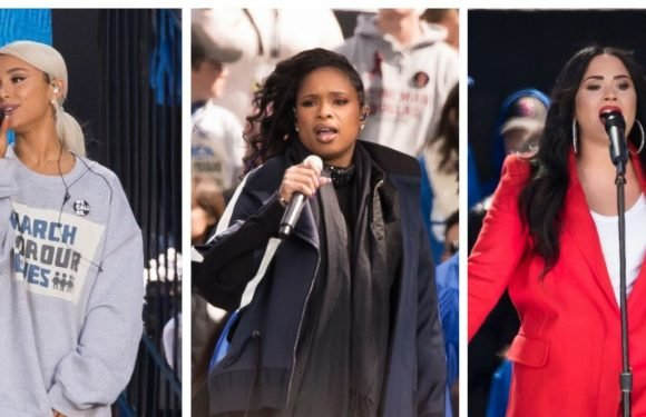 The Voice UK's Jennifer Hudson, Ariana Grande, Demi Lovato and more perform at March for Our Lives Rally
