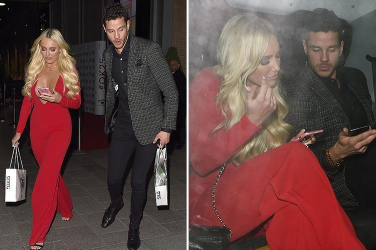 Towie's Amber Turner leaves party with Scott Thomas in a taxi as she sparks rumours she's moved on from Dan Edgar already