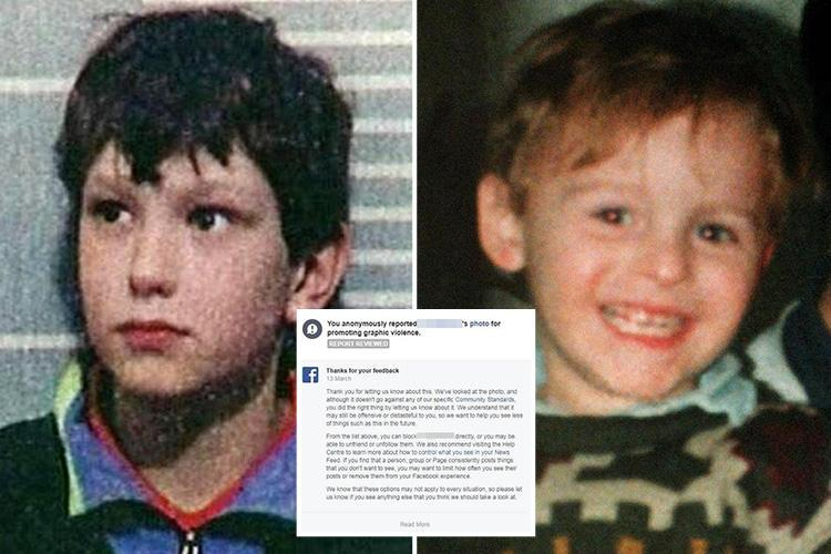 Facebook chiefs have been forced to take down posts allegedly unmasking James Bulger killer Jon Venables after the site's moderators refused