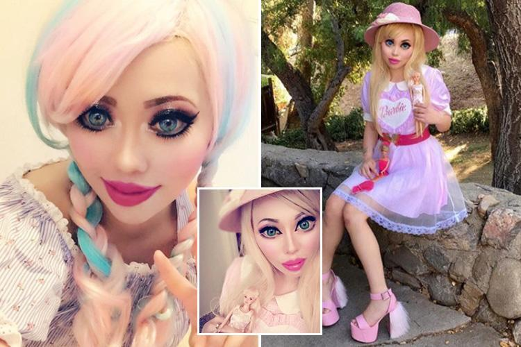 'Human doll' has eyelid surgery to make her appear more Caucasian – just like her style icon Barbie