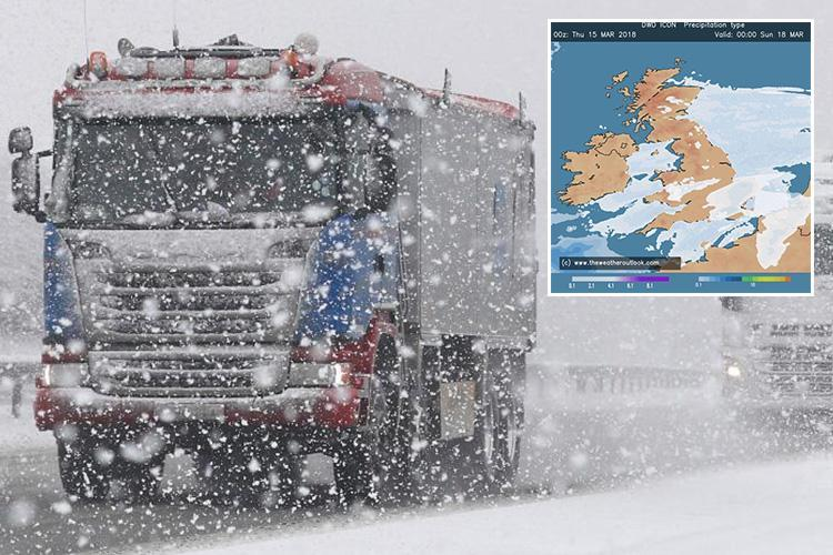 Snow to blanket UK with 10cm threatening flights, mobile reception and blackouts as Beast from the East 2 strikes with -7C wind chill