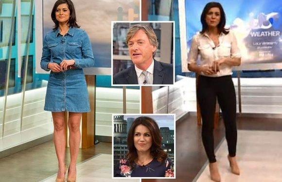 Susanna Reid defends Richard Madeley after he was accusing of making 'creepy' comment about weather girl Lucy Verasamy's dress