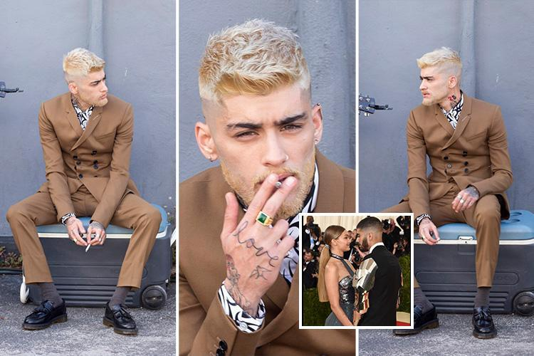 Zayn Malik looks dramatically different with blonde hair and a goatee as he films new music video in Miami after Gigi Hadid split