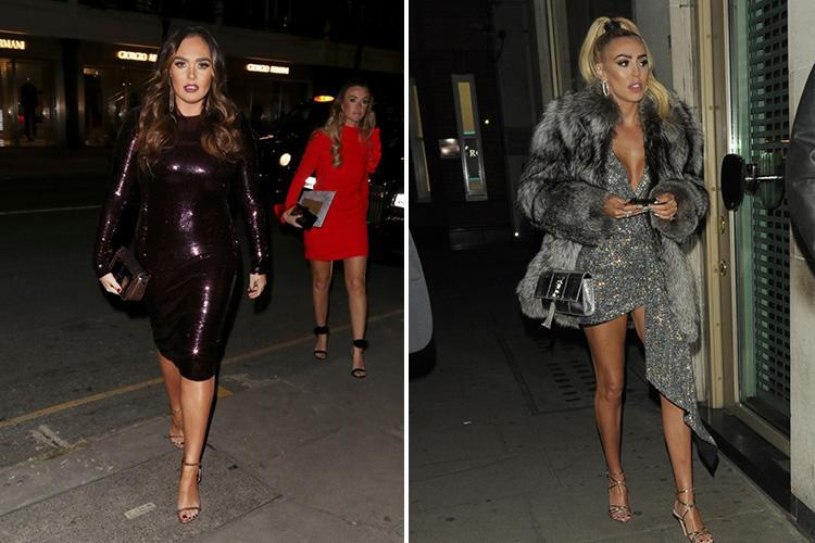 Tamara Ecclestone glams up for a rare night out without daughter Sophia as she hits the town with husband Jay Rutland and sister Petra