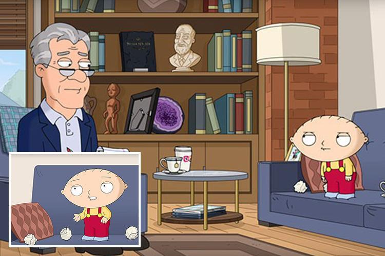 Family Guy's Stewie's REAL voice revealed… proving his English accent is fake