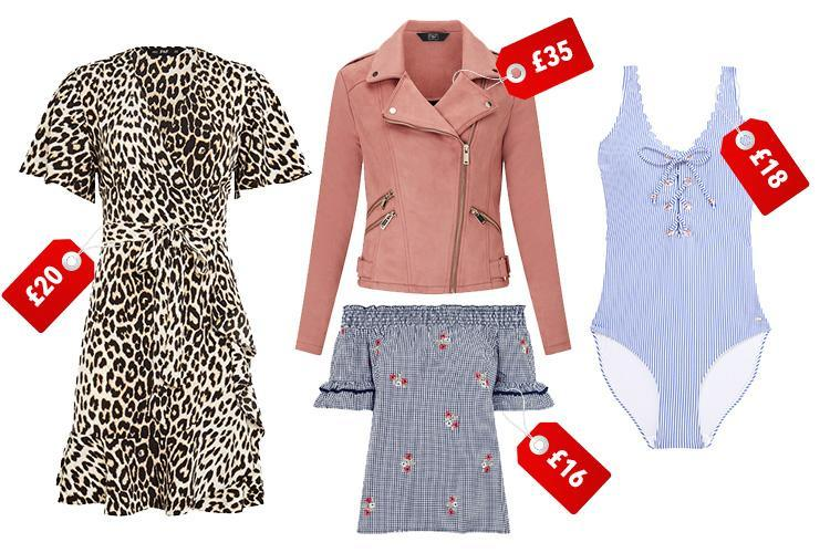 Tesco's latest F&F range ishitting all the right notes with leopard print, nautical stripes and pink suede…all starting at £16