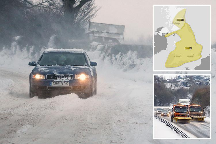 More snow and ice chaos across UK as Devon town cut off and drivers warned 'do NOT travel' – and floods on way