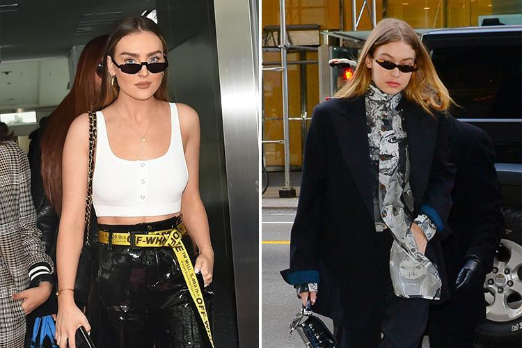 Perrie Edwards is wearing same sunglasses as Gigi Hadid as Little Mix touch down in Tokyo