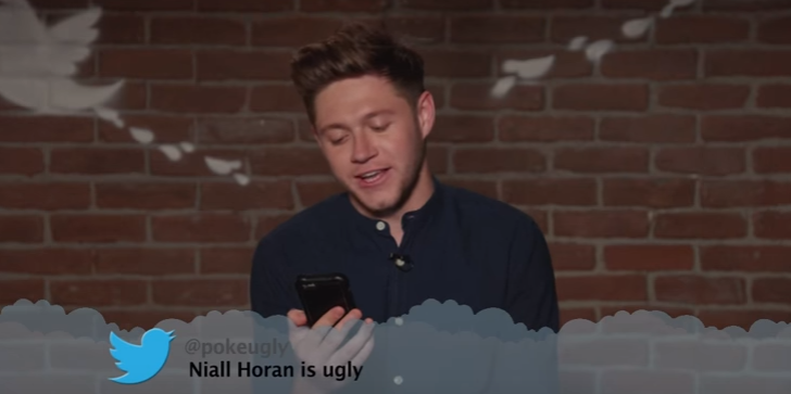 Niall Horan looks devastated after fan calls him 'ugly' as he reads mean tweets on Jimmy Kimmel Live! Show