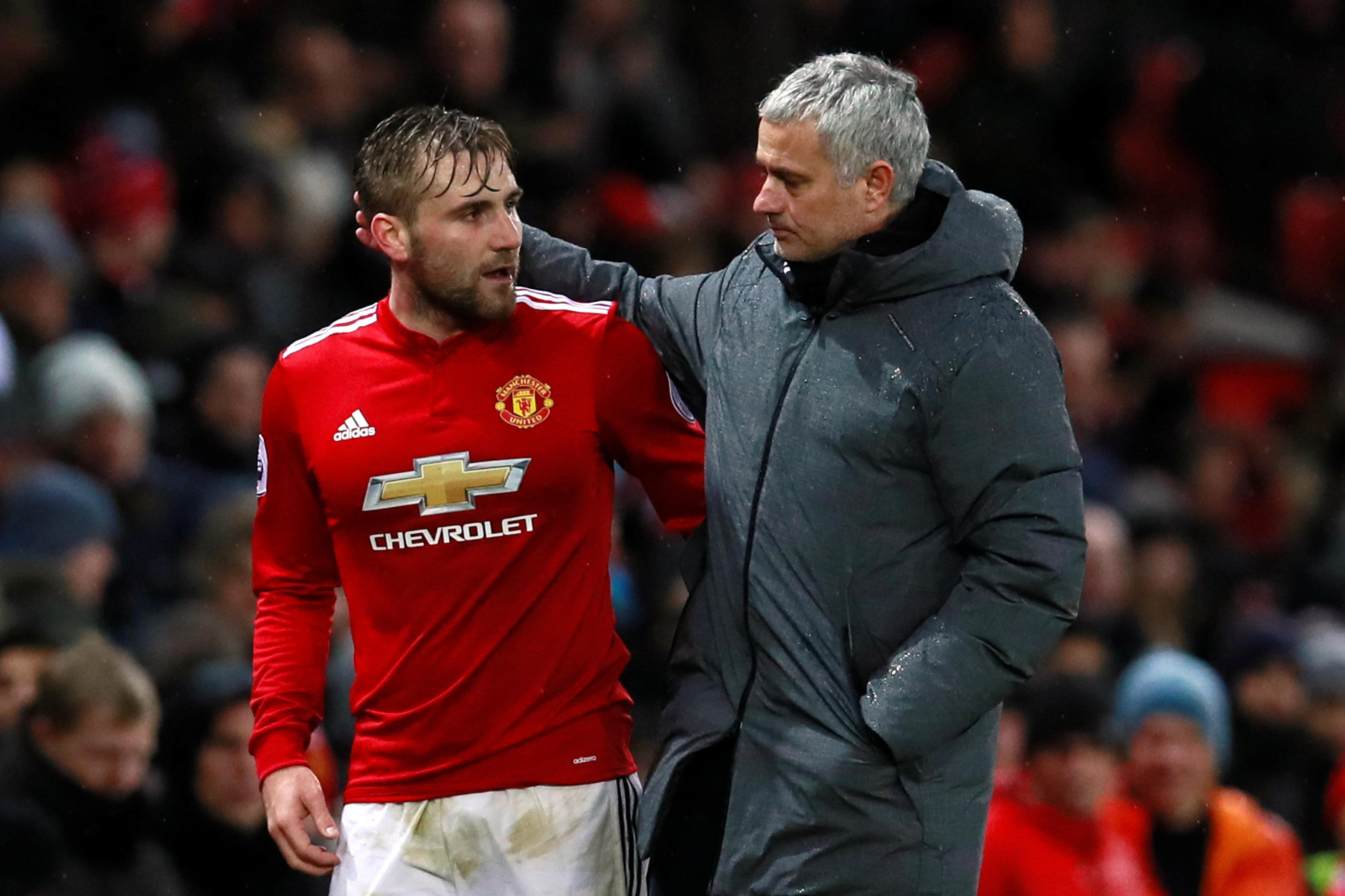Jose Mourinho criticises Luke Shaw for Manchester United performance against Brighton after hauling him off at half-time