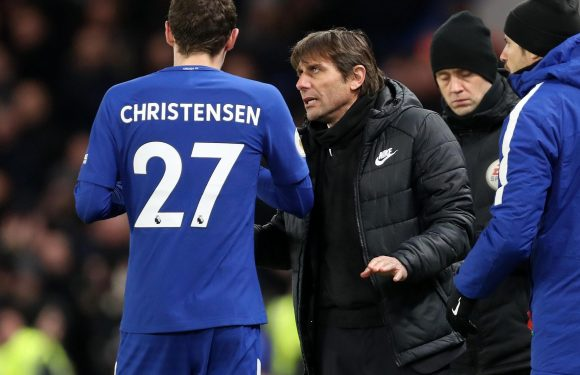 Chelsea worry for Antonio Conte as 'fatigued' Andreas Christensen is sent back by Denmark after being deemed not fit enough