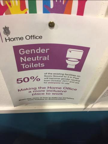 Home Office spends more than £36,000 of taxpayers money on ten gender neutral toilets for its staff