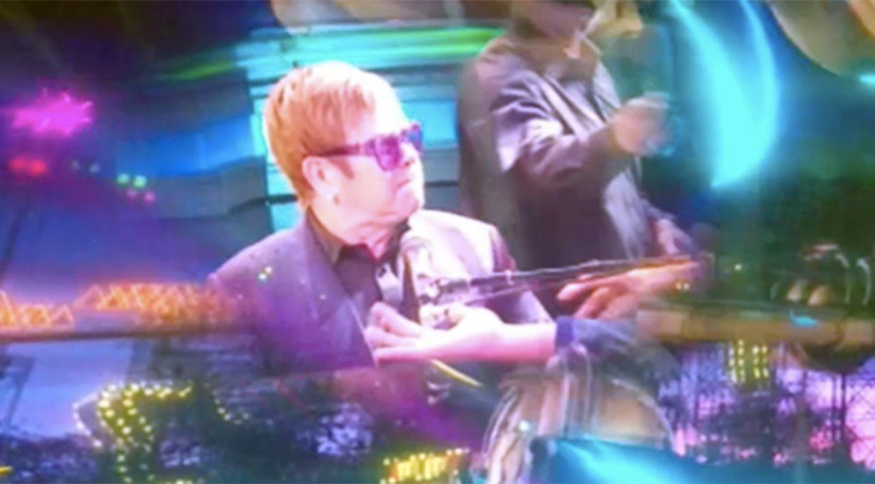 Elton John storms off stage after being GRABBED by fan during his Las Vegas performance