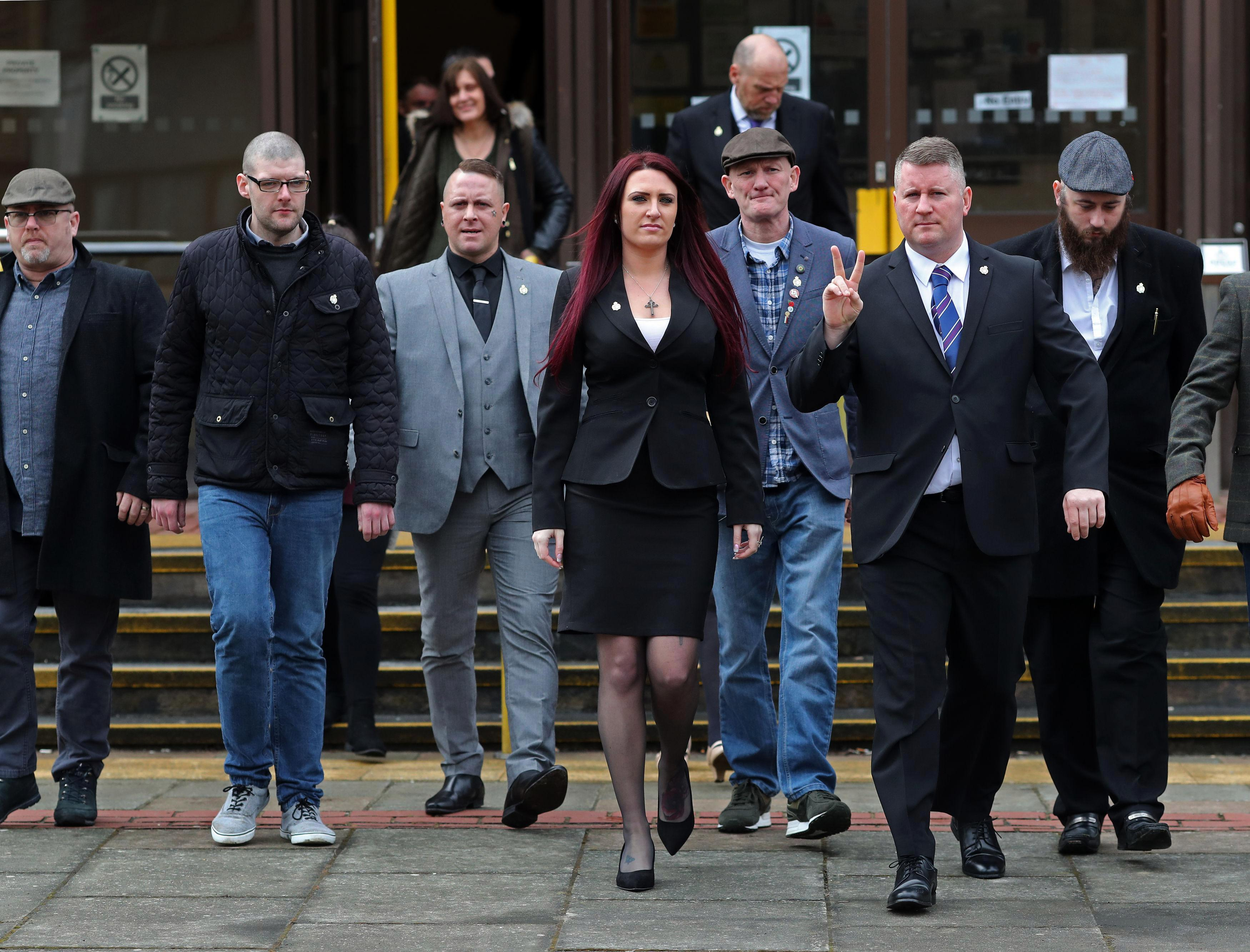 Britain First leaders Paul Golding and Jayda Fransen jailed for a combined 54 weeks after racially abusing Muslim men