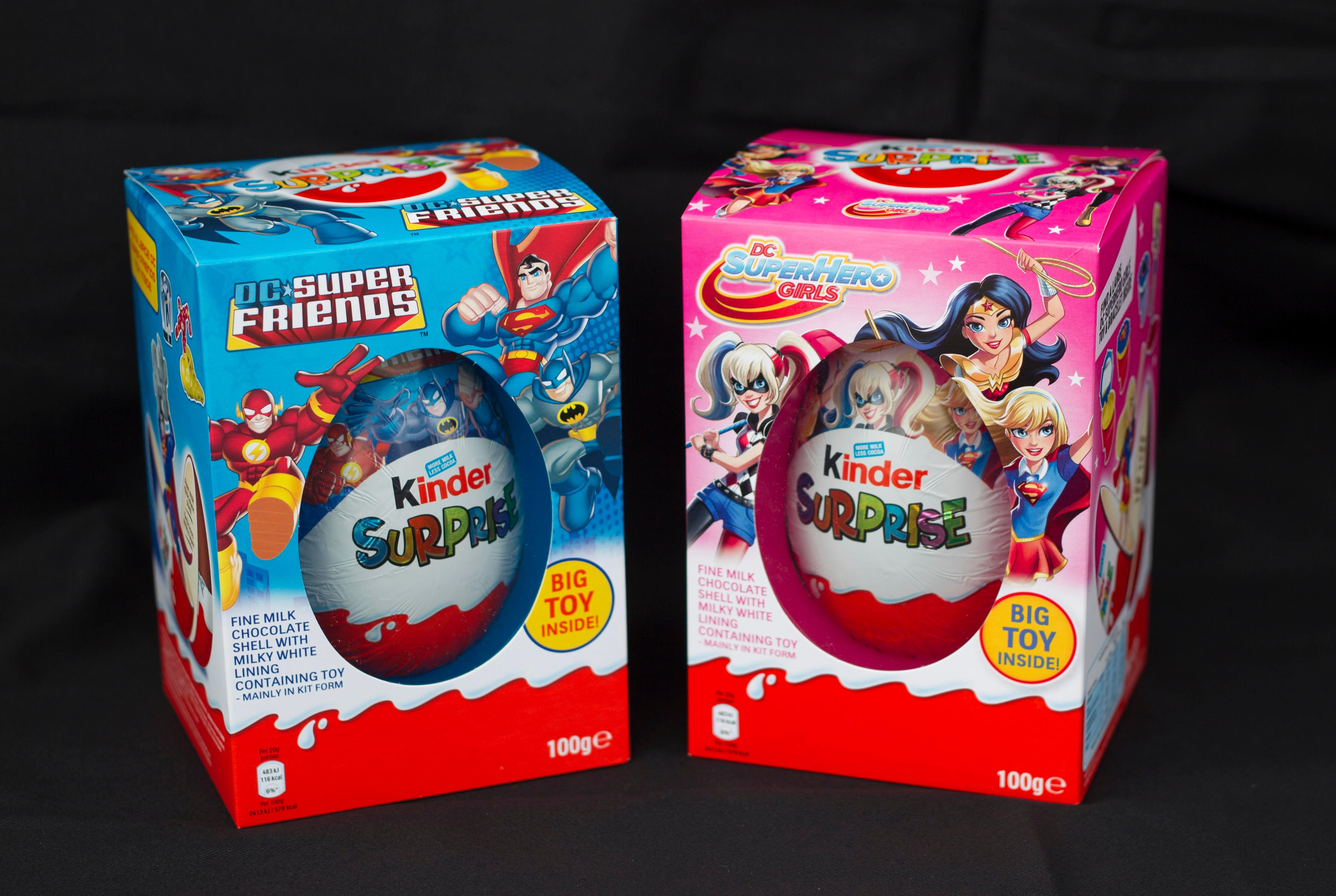 Chocolate makers slammed over boys and girls versions of the same Easter egg