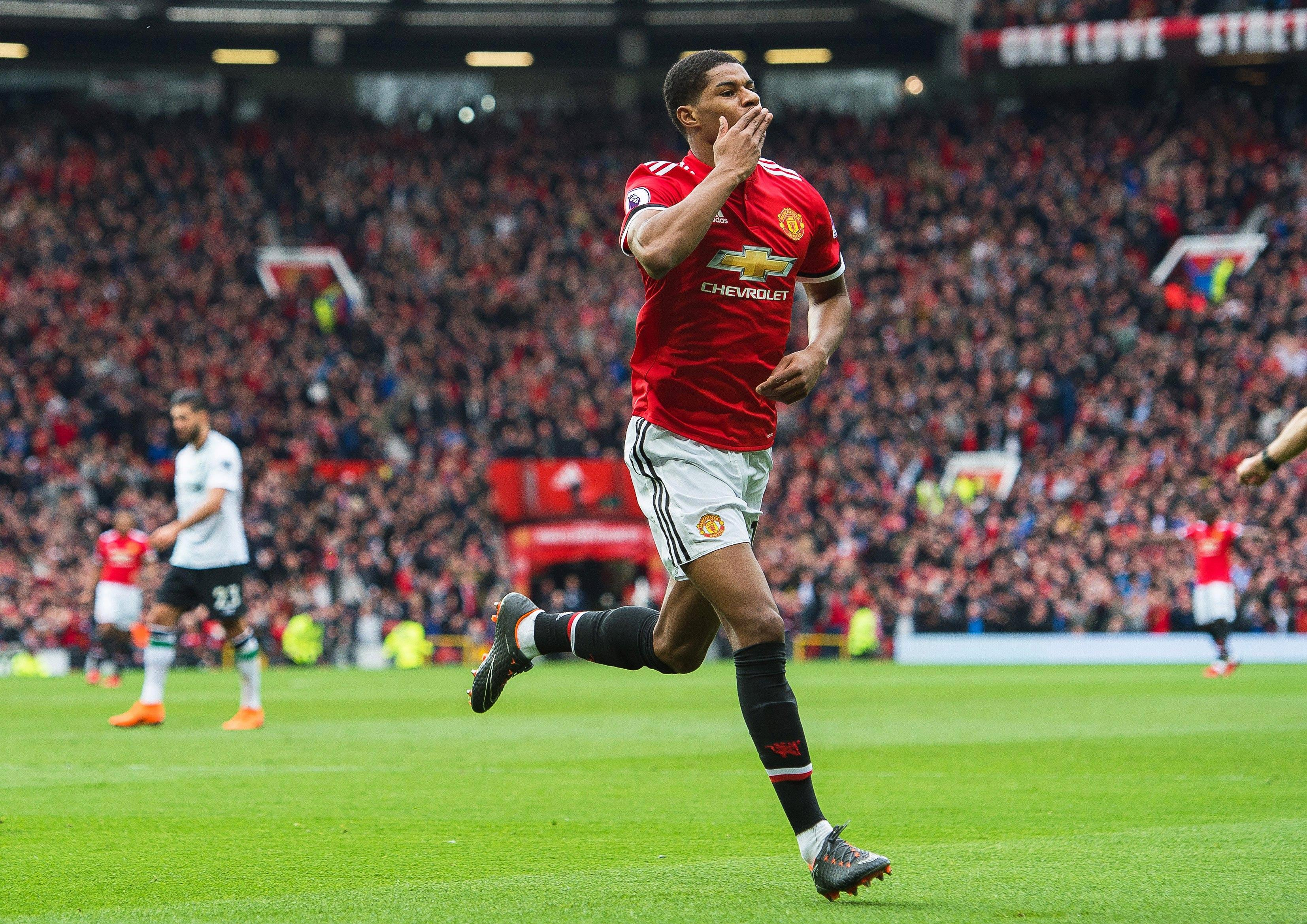 Marcus Rashford insists he is improving all the time – even on the Manchester United bench