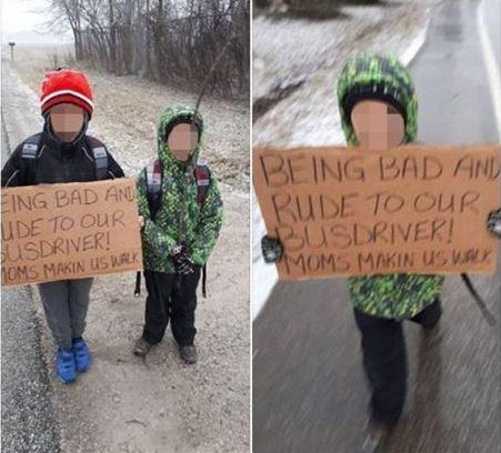 Mum makes sons walk to school for four miles 'because they were rude to the bus driver'