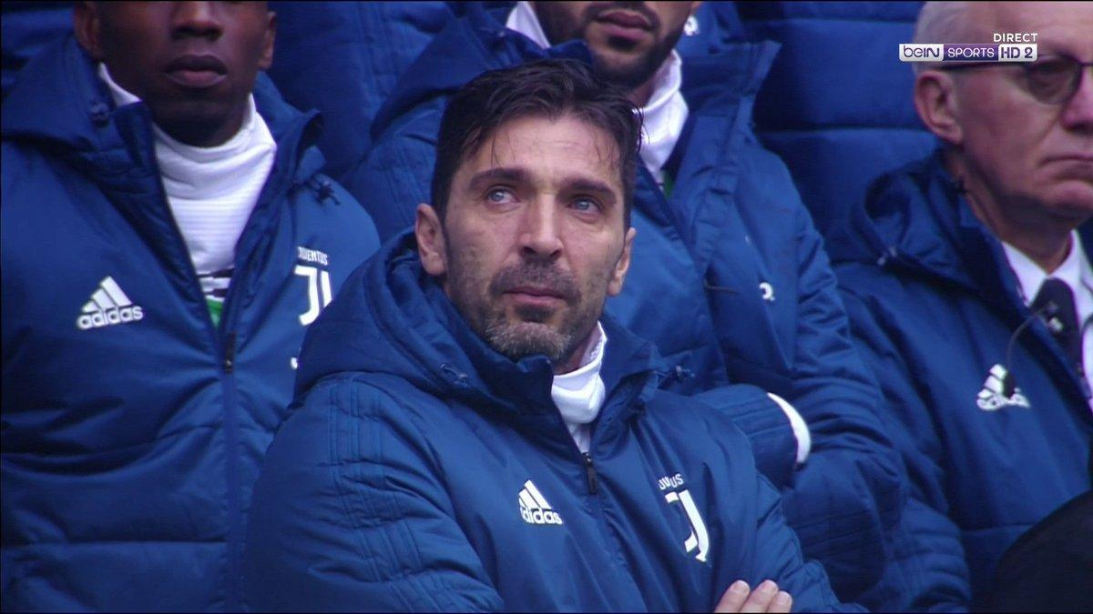Gianluigi Buffon moved to tears during David Astori minute's silence before Juventus take on Udinese